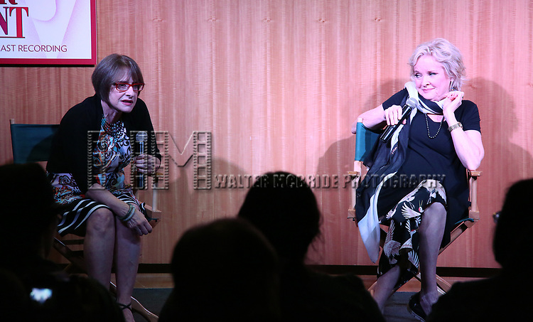 "Patti LuPone & Christine Ebersole discuss their Performances In ""War Paint"" On Broadway with Composer Scott Frankel at Barnes & Noble 86th Street on July 14, 2017 New York City."