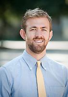Professor Brandon Lehr, Aug. 10, 2010.<br /> (Photo by Marc Campos, Occidental College Photographer)