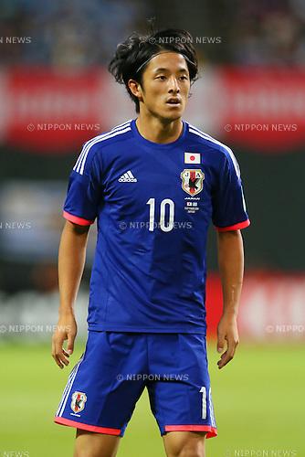 Ryota Morioka (JPN), <br /> SEPTEMBER 5, 2014 - Football / Soccer : <br /> KIRIN Challenge Cup 2014 <br /> match between Japan - Uruguay <br /> at Sapporo Dome, Hokkaido, Japan. <br />  (Photo by Yohei Osada/AFLO SPORT) [1156]