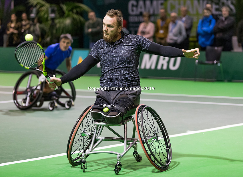 Rotterdam, The Netherlands, 14 Februari 2019, ABNAMRO World Tennis Tournament, Ahoy, Wheelchair, Nicolas Peifer (FRA),<br /> Photo: www.tennisimages.com/Henk Koster