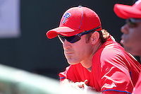 Philadelphia Phillies Chase Utley #26 during a scrimmage vs the Florida State Seminoles  at Bright House Field in Clearwater, Florida;  February 24, 2011.  Philadelphia defeated Florida State 8-0.  Photo By Mike Janes/Four Seam Images
