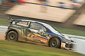 14th April 2018, Circuit de Barcelona-Catalunya, Barcelona, Spain; FIA World Rallycross Championship; Kristoffersson 1 during FIA World Rally Cross Round 1