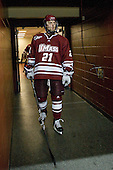 Marc Concannon (UMass - 21) - The Boston College Eagles defeated the University of Massachusetts-Amherst Minutemen 5-2 on Saturday, March 13, 2010, at Conte Forum in Chestnut Hill, Massachusetts, to sweep their Hockey East Quarterfinals matchup.