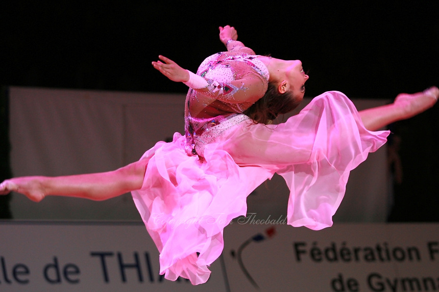 Alina Kabaeva of Russia split leaps during gala at 2006 Thiais Grand Prix in Paris, France on March 26, 2006.  (Photo by Tom Theobald)
