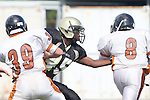 Palos Verdes, CA 09/22/11 - David Odusanya (Peninsula #45)) in action during the Beverly Hills-Peninsula Varsitty Football gane.