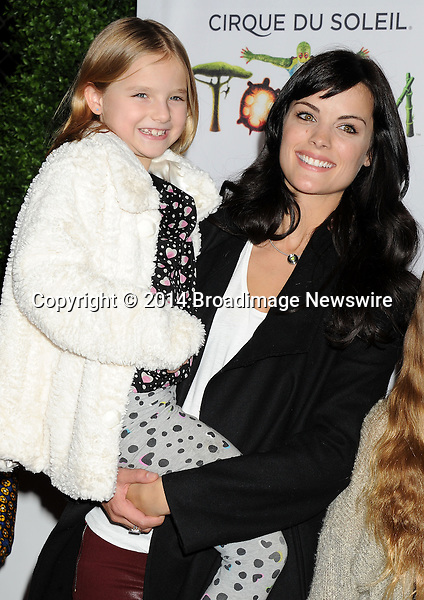 Pictured: Jaimie Alexander and Peter Facinelli's daughter<br /> Mandatory Credit &copy; Gilbert Flores/Broadimage<br /> Cirque du Soleil Totem - Celebrity Opening <br /> <br /> 1/21/14, Santa Monica, California, United States of America<br /> <br /> Broadimage Newswire<br /> Los Angeles 1+  (310) 301-1027<br /> New York      1+  (646) 827-9134<br /> sales@broadimage.com<br /> http://www.broadimage.com