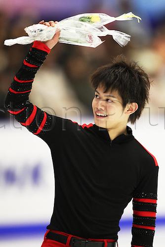 12.11.2011. Hokkaido, Japan.  Takahiko Kozuka (JPN)Figure Skating : ISU Grand Prix of Figure Skating 2011-2012, NHK Trophy Men's Short Program at Makomanai Ice Arena, Hokkaido, Japan.
