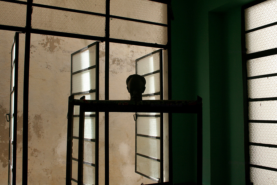 Havana (Cuba). September 2006..La Habana Vieja. Public school. In one of the classrooms, the bust of José Martí, leader of Cuban independence.