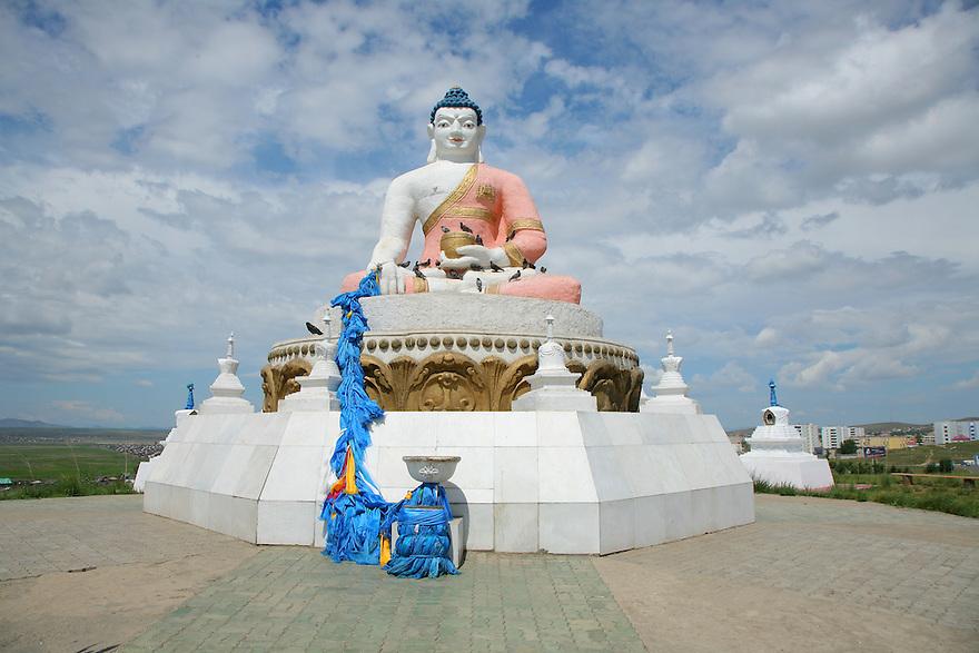 Buddhist statue Darkhan Mongolia