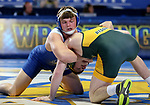 BROOKINGS, SD - FEBRUARY 11: Kenny O'Neil from South Dakota State University battles with Andrew Fogarty from North Dakota State University during their 165 pound match Friday night at Frost Arena in Brookings, SD. (Photo by Dave Eggen/Inertia)