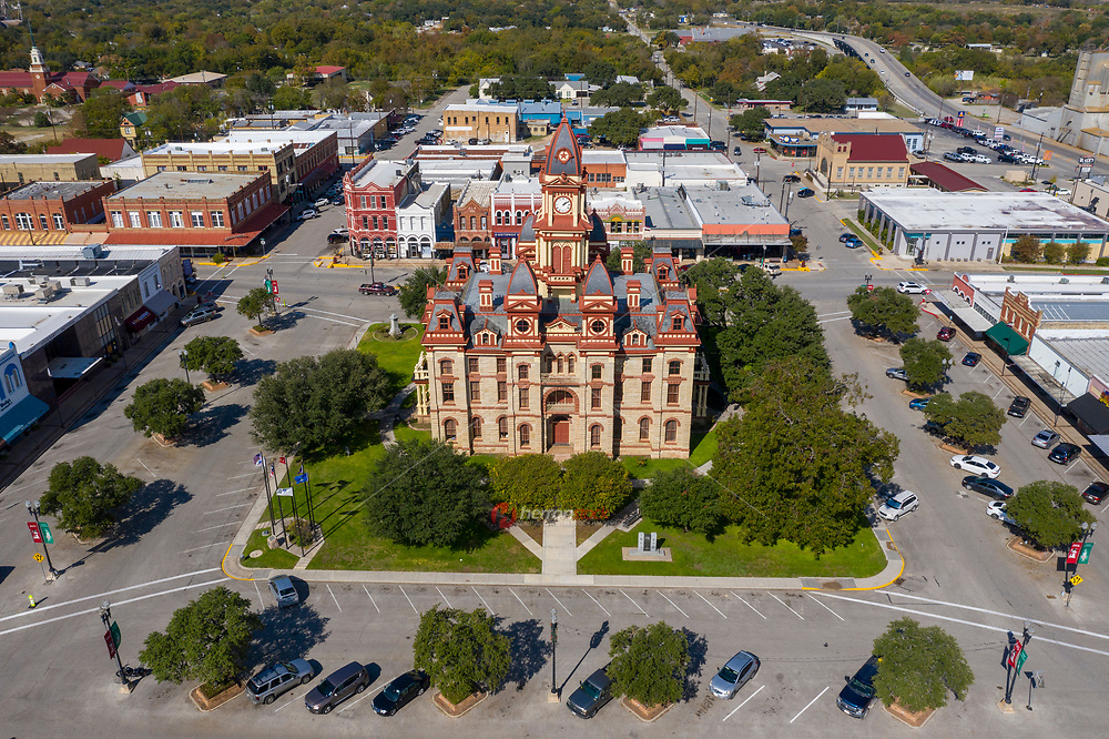 The Caldwell County Courthouse is a historic courthouse located in Lockhart, Texas. The courthouse was built in 1894 to replace the existing courthouse, which was too small for the growing county. The courthouse was designated a Recorded Texas Historic Landmark in 1976 and was listed on the National Register of Historic Places as a contributing property of the Caldwell County Courthouse Historic District on January 3, 1978.