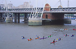 AYBRE3 Canoeing on the River Thames in central London England