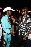 LOS ANGELES, CA - JUNE 23: Lil Nas X and 2 Chainz at the 2019 BET Awards Show at the Microsoft Theater in Los Angeles on June 23, 2019. Credit: Walik Goshorn/MediaPunch