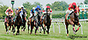 School House and Unbroken finishing in a dead heat at Delaware Park on 7/27/13