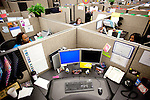 "AFLAC call center employees Katrina Taylor (from left to right), Andrea Bentley and Asha Arnold answer calls from customers in Columbus, Georgia October 21, 2010. The center has changed the recorded voice to one that is more appealing to customers...""CREDIT: Kendrick Brinson/LUCEO The Wall Street Journal"".Voice"