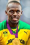 Engeland, London, 9 augustus 2012.Olympische Spelen London.Usain Bolt wint de finale van de 200m voor mannen op de Olympische spelen van London