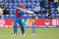 Najbullah Zadran (Afghanistan) plays square of the wicket during Afghanistan vs Sri Lanka, ICC World Cup Cricket at Sophia Gardens Cardiff on 4th June 2019
