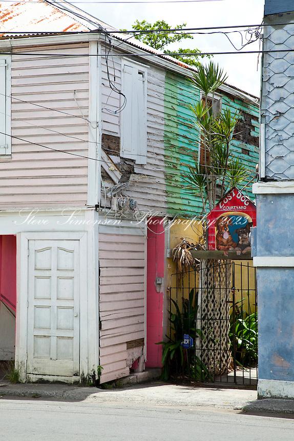 Old buildings<br /> Fredericksted, St Croix<br /> U.S. Virgin Islands