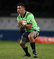 DURBAN, SOUTH AFRICA - MAY 05: Patelesio Tomkinson of the Pulse Energy Highlanders during the Super Rugby match between Cell C Sharks and Highlanders at Jonsson Kings Park Stadium in Durban, South Africa on Saturday, 5 May 2018. Photo: Steve Haag / stevehaagsports.com