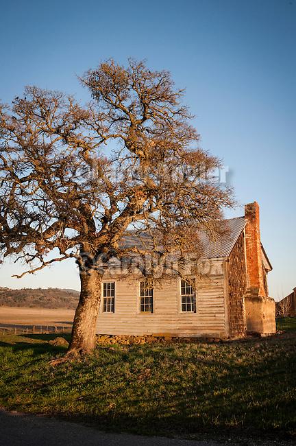 Old one-room Felix schoolhouse, Calaveras County, Calif.