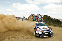 Elfyn Evans and Daniel Barrit, Ford Fiesta RRC of QATAR M-SPORT WORLD RALY TEAM during WRC Vodafone Rally de Portugal 2013, in Algarve, Portugal on April 12, 2013 (Photo Credits: Paulo Oliveira/DPI/NortePhoto)