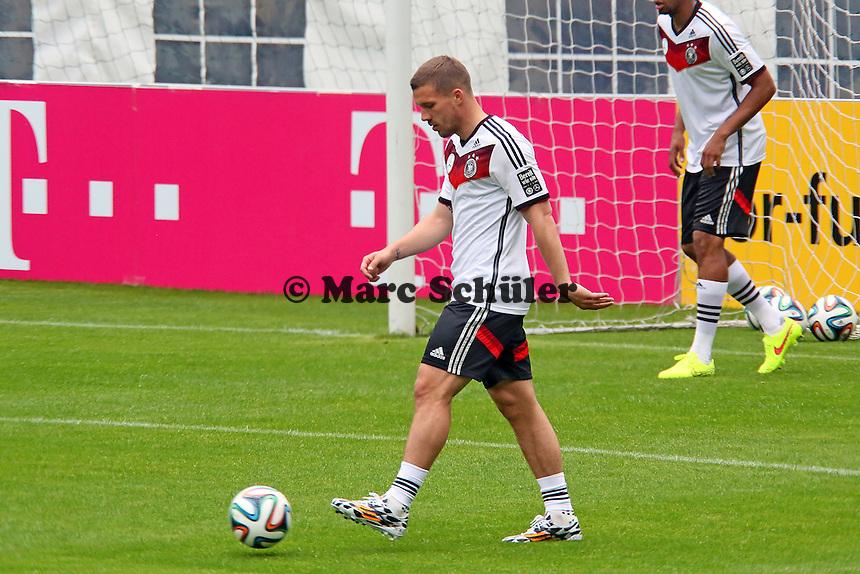 Lukas Podolski - Trainingslager der Deutschen Nationalmannschaft zur WM-Vorbereitung in St. Martin