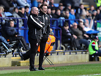 Bolton Wanderers' assistant manager Steve Parkin and first team coach Julian Darby<br /> <br /> Photographer Andrew Kearns/CameraSport<br /> <br /> The EFL Sky Bet Championship - Bolton Wanderers v Millwall - Saturday 9th March 2019 - University of Bolton Stadium - Bolton <br /> <br /> World Copyright © 2019 CameraSport. All rights reserved. 43 Linden Ave. Countesthorpe. Leicester. England. LE8 5PG - Tel: +44 (0) 116 277 4147 - admin@camerasport.com - www.camerasport.com