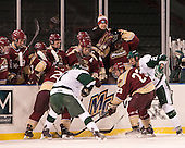 Nick Pichette (Norwich - 23), Troy Starrett (Babson - 21) - The Norwich University Cadets defeated the Babson College Beavers 1-0 on Thursday, January 9, 2014, at Fenway Park in Boston, Massachusetts.
