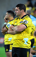 Ben May watches the Super Rugby match between the Hurricanes and Crusaders at Westpac Stadium in Wellington, New Zealand on Friday, 29 March 2019. Photo: Dave Lintott / lintottphoto.co.nz