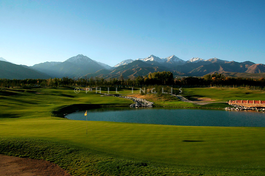 A general view of Zhailjau Golf Resort, Almaty, Kazakhstan. Designed by Arnold Palmer. Picture Credit/ Phil Inglis