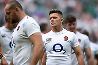 Callum Sheedy of the England XV looks on after the match. Quilter Cup International match between England XV and the Barbarians on June 2, 2019 at Twickenham Stadium in London, England. Photo by: Patrick Khachfe / Onside Images