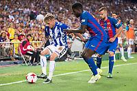 Deportivo Alaves's defender Kiko Femenia and FC Barcelona's defender Samuel Umiti during Copa del Rey (King's Cup) Final between Deportivo Alaves and FC Barcelona at Vicente Calderon Stadium in Madrid, May 27, 2017. Spain.<br /> (ALTERPHOTOS/BorjaB.Hojas) /NortePhoto.com