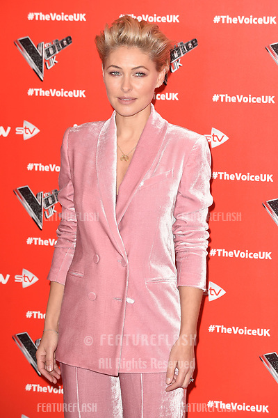 "LONDON, UK. January 03, 2019: Emma Willis at the launch photocall for the 2019 series of ""The Voice"" London.<br /> Picture: Steve Vas/Featureflash"