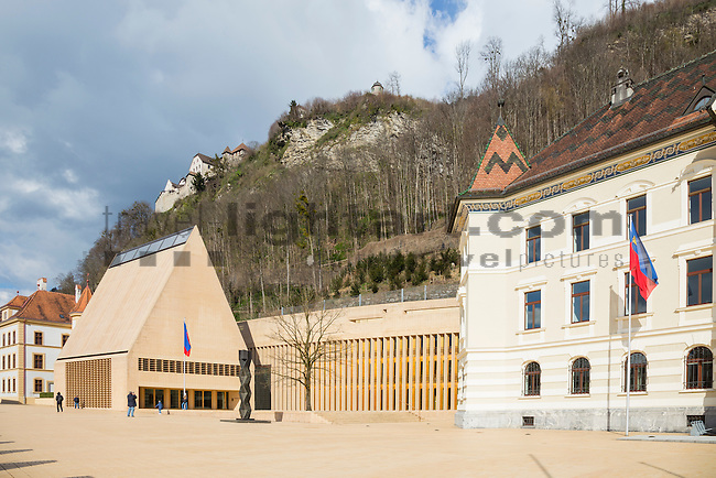 Regierung, Government, Landtag, Parliament, Schloss, Castle of Vaduz, Rheintal, Rhine-valley, Liechtenstein.