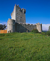 County Kerry, Killarney National Park, Ring of Kerry, Ireland          <br /> Ross Castle tower and walls (16th Century) built on Lake Leane