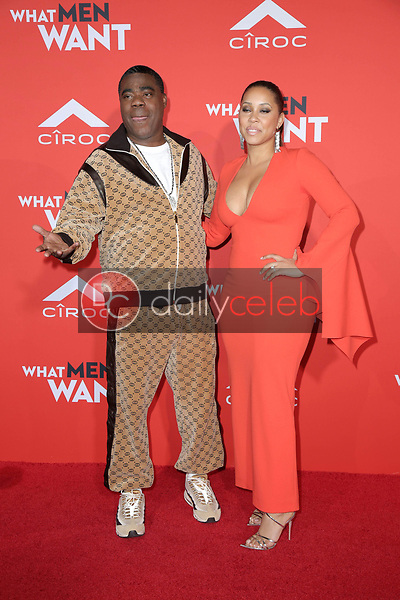 """Tracy Morgan, Megan Wollover<br /> at the """"What Men Want"""" Premiere, Village Theater, Westwood, CA 01-28-19<br /> David Edwards/DailyCeleb.com 818-249-4998"""