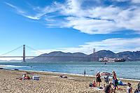 Golden Gate Bridge, San Francisco, suspension bridge, SFO Presidio Crissy Field Marsh