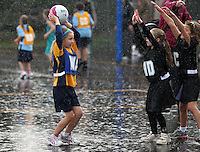 16.05.2012 Young netball players in Auckland. Mandatory Photo Credit ©Michael Bradley.