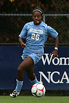 18 September 2009: North Carolina's Nikki Washington. The University of North Carolina Tar Heels defeated the Louisiana State University Tigers 1-0 at Koskinen Stadium in Durham, North Carolina in an NCAA Division I Women's college soccer game.