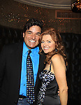 As The World Turns Anne Sayre poses with Producer, actor etc Dale Badway as they reunite - In High School when Dale was a senior and Anne was a freshman they played the leads in Bye Bye Birdie and Conrad Birdie and Kim - Marcia Tovsky throws her annual party on May 9, 2013 with actors from One Life To Live and As The World for a get together at Noir in New York City, New York. (Photo by Sue Coflin/Max Photos)