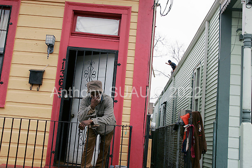 New Orleans, Louisiana.February 21, 2006..Only a few residents have returned to the 7th ward shotgun houses that were only slightly damaged when the by the winds of hurricane Katrina in August 2005...