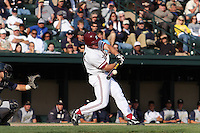 30 May 2008: Stanford Cardinal Toby Gerhart during Stanford's 4-2 loss against the UC Davis Aggies in game 1 of the NCAA Stanford Regional at Sunken Diamond in Stanford, CA.
