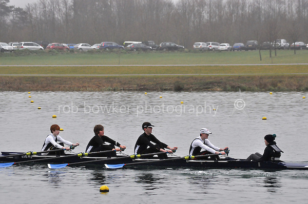 129 Evesham RC J15A.4x+..Marlow Regatta Committee Thames Valley Trial Head. 1900m at Dorney Lake/Eton College Rowing Centre, Dorney, Buckinghamshire. Sunday 29 January 2012. Run over three divisions.
