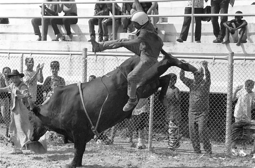 Elma's Puro Rodeo Cubano at the Parque Lenin in Havana, Cuba. August, 2001.