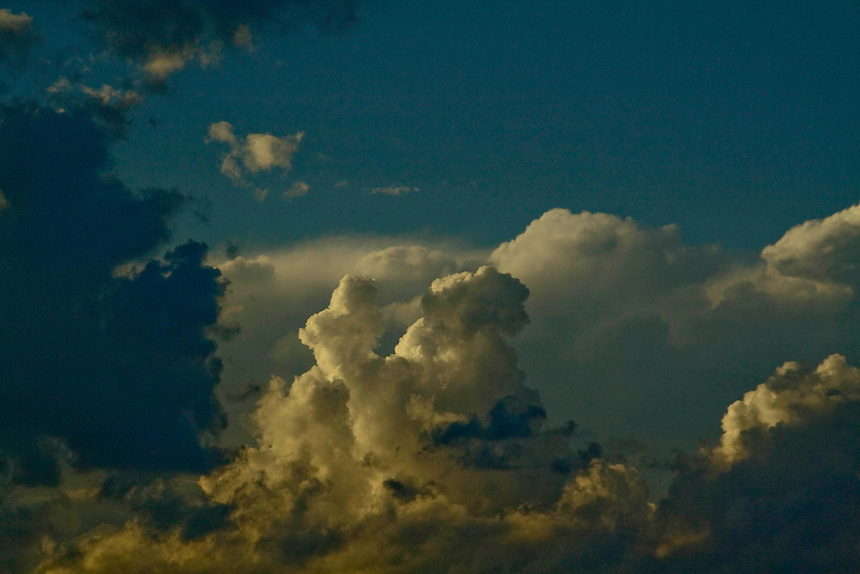 Different cloud formations.