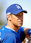 13 March 2007: Los Angeles Dodgers outfielder Luis Gonzalez waits to take batting practice prior to facing the Detroit Tigers in a spring training game at Holman Stadium in Vero Beach, Florida.<br /> <br /> Mandatory Photo Credit: Ed Wolfstein Photo