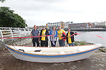 Free Pics    With Compliments<br /> PRIDE &amp; JOY&rsquo; ON MAIDEN VOYAGE TODAY<br />  <br /> Pictured are Robert Murphy, John Paul Sheehan, Triona O Connor - FOCUS Ireland, Joe O Neill and Tommy Meehan at the Maiden Voyage of Focus Ireland customers self made boat at St Michaels Boat Club today.<br /> <br /> It&rsquo;s plain sailing for Focus Ireland Limerick customers who launch self-made boat in O&rsquo;Callaghan Strand <br />  <br /> Focus Ireland staff and customers today launched a boat which they built in conjunction with the AK Ilen company, a not for profit organisation that train in wood working and traditional wooden boatbuilding skills today. <br />  <br /> Four of the area&rsquo;s customers of all ages took part in the boat building workshop which ran for a period of four years. The boat, named &lsquo;Pride &amp; Joy&rsquo;, was launched into St Michael&rsquo;s Slip at O&rsquo;Callaghan strand this afternoon. <br />  <br /> Focus Ireland Limerick Manager Ger Spillane said: <br />  <br /> &ldquo;It&rsquo;s a great honour to be here today at this unique launch, a culmination of a long period of hard work and preservation by the participants. Our research and experience has shown that gaining new skills and confidence can really help people move on from homelessness and I&rsquo;m sure this project will have long reaching benefits for all involved.&rdquo;<br />  <br /> He continued: <br />  <br /> &ldquo;The boat was built in conjunction with A K Ilen, boat building school here in Limerick and their skill and attention to detail was a great learning experience for all. The boat building project was unique yet singular in its structure and is one of the many threads which create the fabric of Focus Ireland here in Limerick. The launch of the boat on its first voyage is a great achievement for all involved.  It&rsquo;s also symbolic in many ways as it shows that team work and support can help to build a  vessel that can set sail on a new journeys and also be strong enough to withstand rough weather and choppy waters. It makes you think of how people work themselves with our support to overcome being homeless or at risk