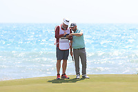 Andy Sullivan (ENG) on the 7th green during Round 2 of the Rocco Forte Sicilian Open 2018 on Friday 11th May 2018.<br /> Picture:  Thos Caffrey / www.golffile.ie<br /> <br /> All photo usage must carry mandatory copyright credit (&copy; Golffile | Thos Caffrey)