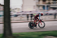 Baptiste Planckaert (BEL/Katusha)<br /> <br /> stage 16: Trento – Rovereto iTT (34.2 km)<br /> 101th Giro d'Italia 2018