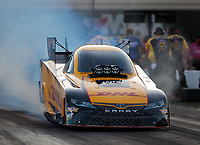Oct 12, 2018; Concord, NC, USA; NHRA funny car driver J.R. Todd during qualifying for the Carolina Nationals at zMax Dragway. Mandatory Credit: Mark J. Rebilas-USA TODAY Sports